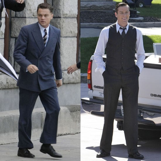 Pictures of Leonardo DiCaprio and Armie Hammer Filming J. Edgar in LA