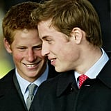 William and Harry shared a laugh together on Christmas Day in 2003.