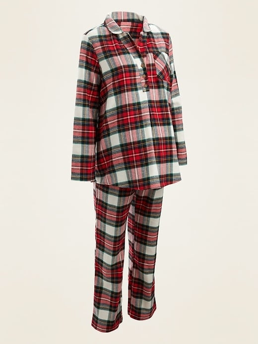 Old Navy Maternity Plaid Flannel Pajama Set 15 Cute Maternity Christmas Pajamas To Get You In The Holiday Spirit Popsugar Family Photo 5