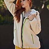 Shein x Madelaine Zip Up Drawstring Hooded Teddy Coat