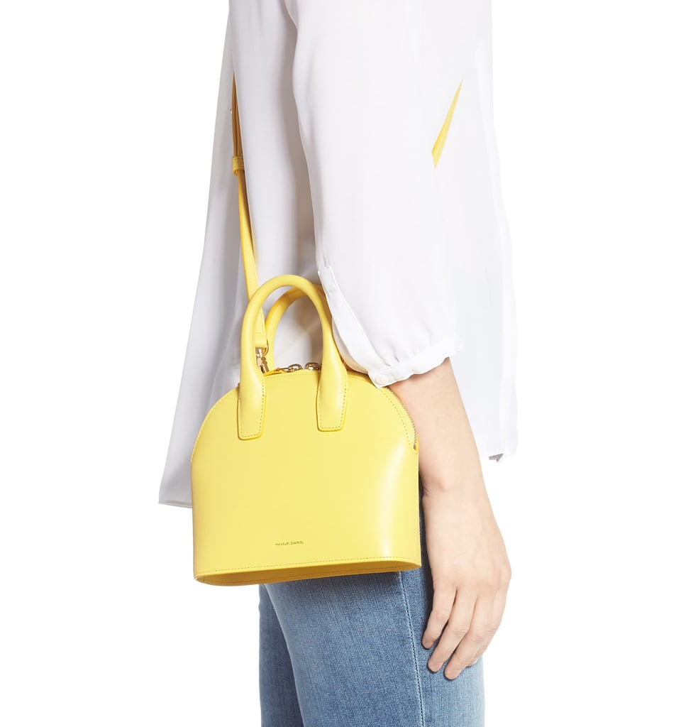 Mansur Gavriel Mini Top Handle Rounded Leather Bag