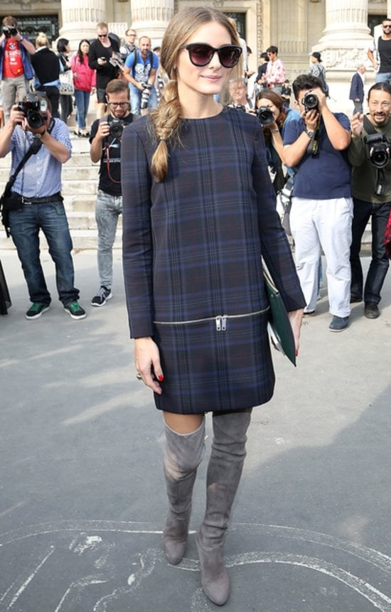Olivia Palermo in Zara and Stuart Weitzman
