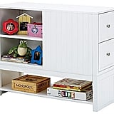 With areas for books, hidden drawers for treasured items, and a lower compartment for books that are too big to fit on the shelves, this Payton bookcase chest ($835) has storage for all your tot's books and favorite things.