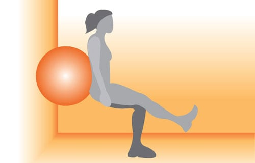 Get on the Ball: Single Leg Squats