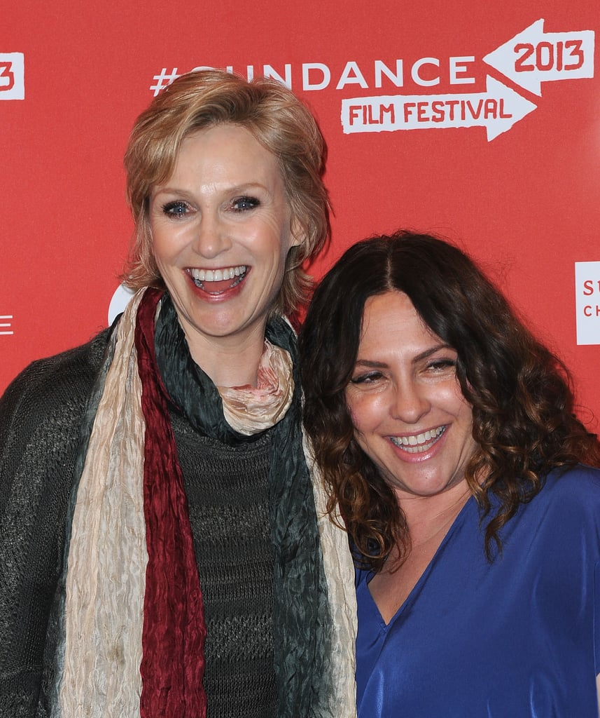 Jane Lynch shared a red-carpet moment with Jill Soloway at the Afternoon Delight premiere at Eccles Center on Monday.