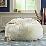 PBteen Ivory Luxe Fur Beanbag