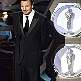 Liam Neeson presented at the 2013 Oscars.
