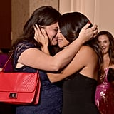 Gina Rodriguez and her sister, Ivelisse, cried over her big win in the Golden Globes press room.