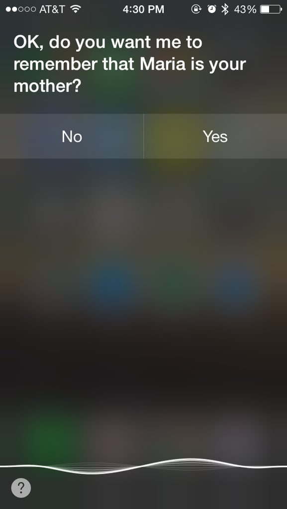 Make Siri Remember Certain Relationships