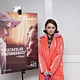 Joey King's Coral Paul & Joe Coat With a Pink Collar