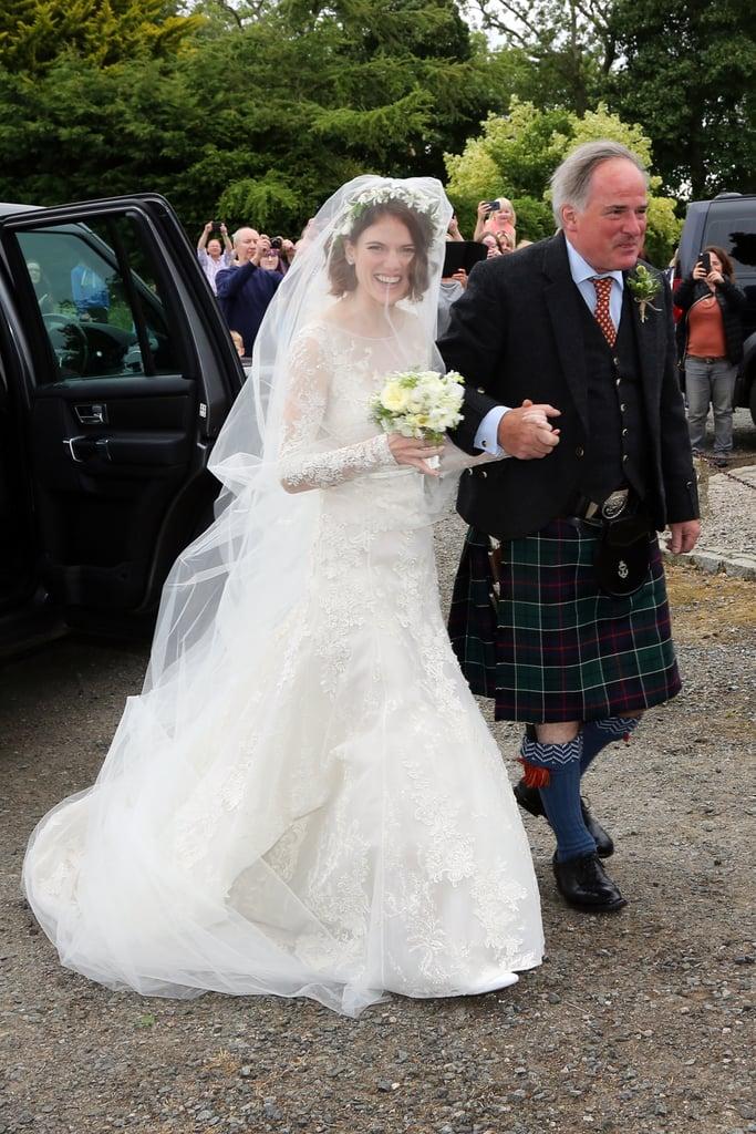Rose wore a £15K wedding dress.   Kit Harington and Rose ...