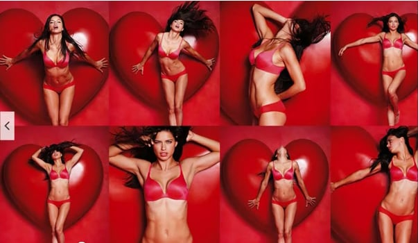 ba039ef400 Victoria s Secret Models In Sexy Lingerie For Love Me Valentine s Day  Campaign