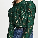 Wayf Emma Puff-Sleeve Lace Top