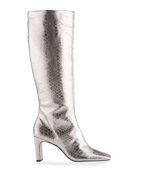 Schutz Diasy Metallic Mock-Croc Tall Boots