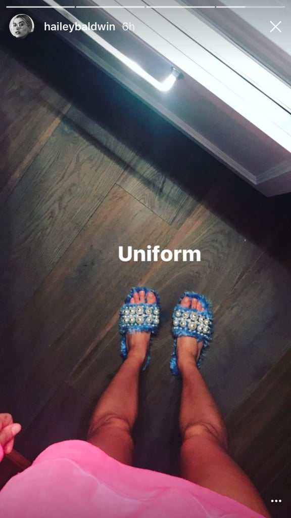 Hailey Snapped a Pic of Her Slippers