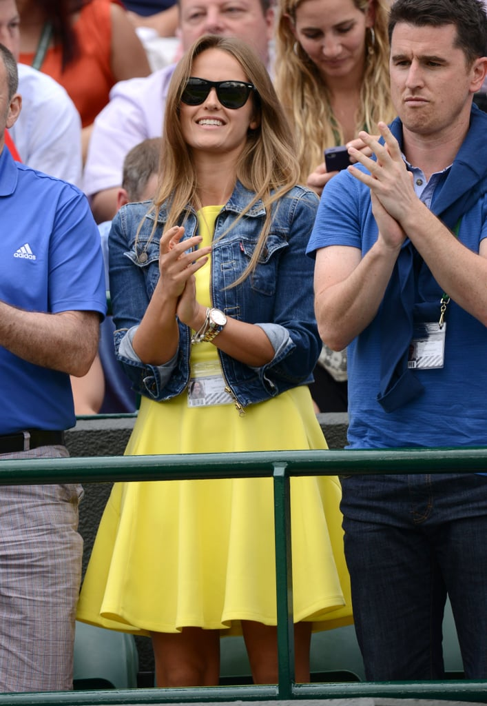 Foreshadowing, perhaps? Earlier on in the tournament, Kim forecast a sunny outlook in a bright yellow dress and jean jacket.