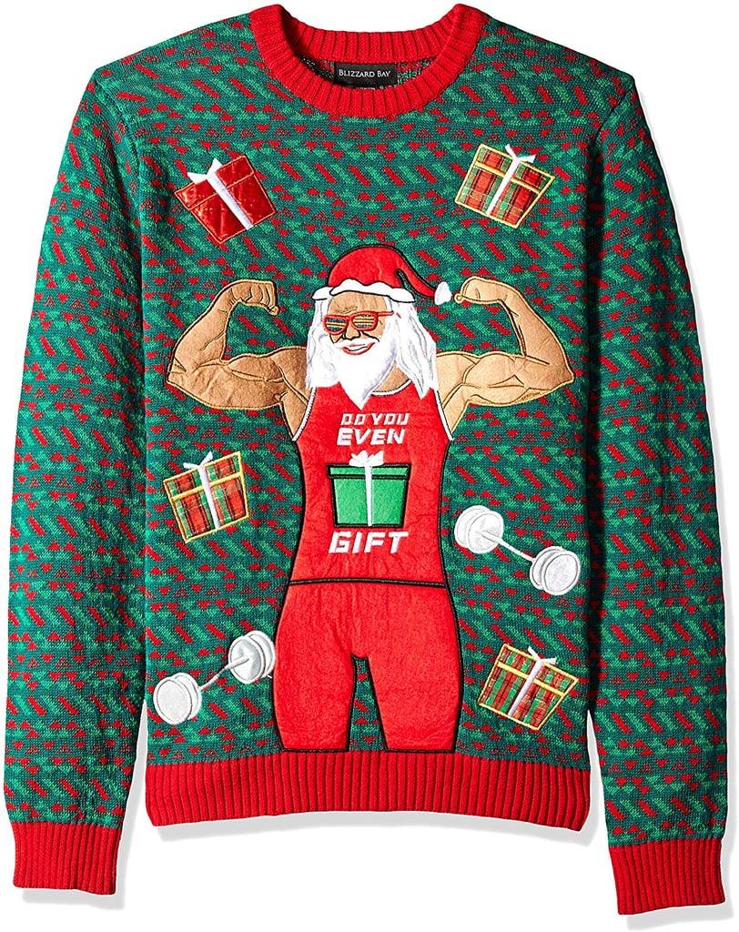 Blizzard Bay Mens Ugly Christmas Sweater Santa Gains