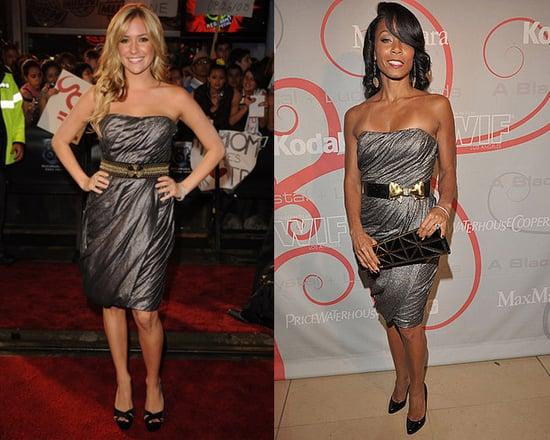 Who Wore It Better? Strapless Metallic Monique Lhuillier Dress