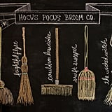 Hocus Pocus Broom Co. Chalkboard Design