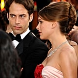 Natalie Portman and Benjamin Millepied headed inside the 2011 Golden Globes.