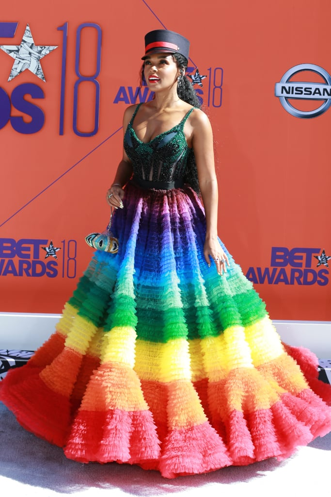 Image result for rainbow gown