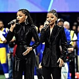 Chloe x Halle Wearing Styland at the Super Bowl LIII Pregame