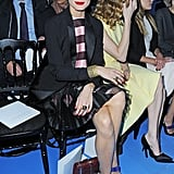 Olivia Palermo took her seat at the Christian Dior show during Paris Fashion Week in March.