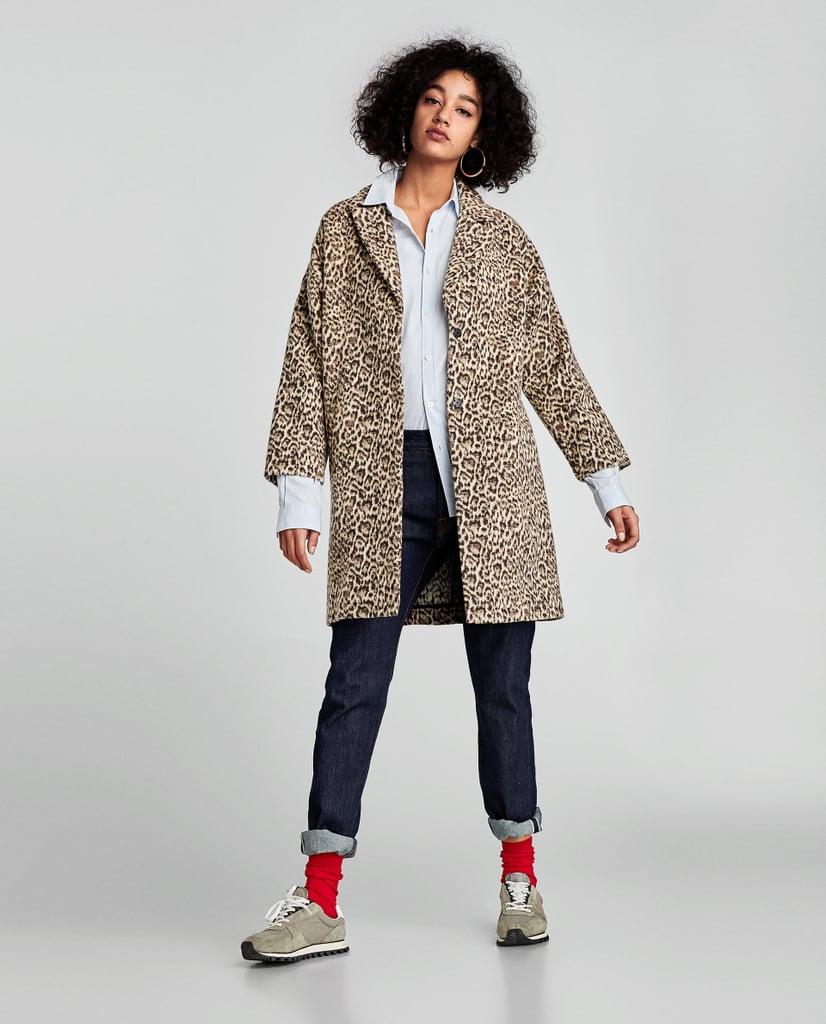 Animal Design Jacquard Coat