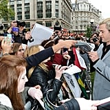 Chris Hemsworth signed autographs.