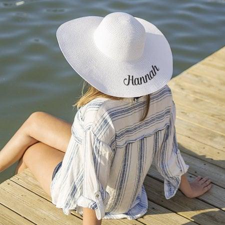 Personalized White Sun Hat  7e8f52e9cec