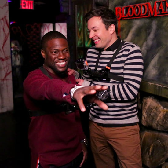 Jimmy Fallon and Kevin Hart Visit a Haunted House Oct. 2016