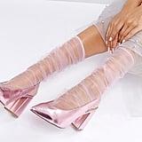 Asos Mesh Rouched Calf Length Socks