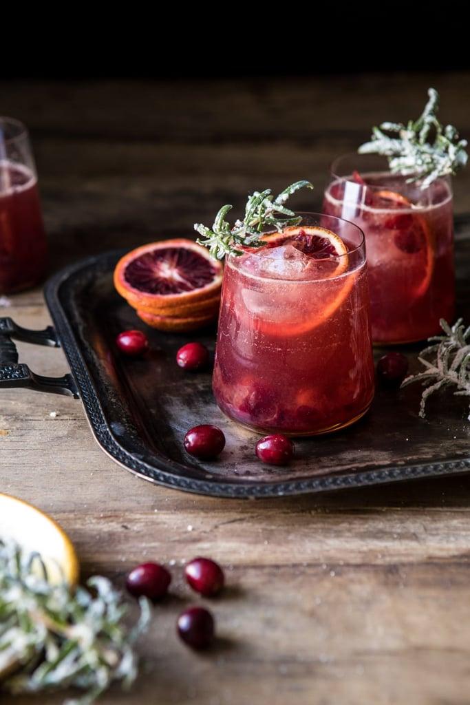 Spiced Cranberry Rosé Spritzers