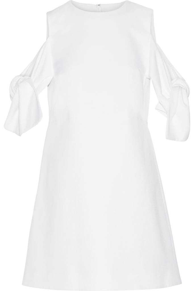 Victoria Victoria Beckham Knotted cotton-piqué mini dress ($880)
