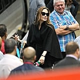 Angelina Jolie heads to Glasgow.