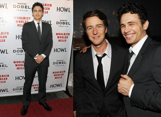 James Franco and Ed Norton at the Special Screening of Howl in New York