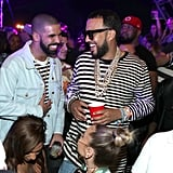 Drake and French Montana partied together at the Neon Carnival in 2017.