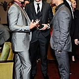 Kellan Lutz, Colin Egglesfield, and Joe Jonas Toast Men's Fashion at a Private Dinner