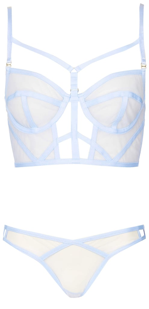 Topshop Mesh Cage Bralet and Knickers