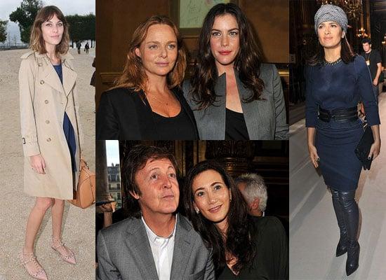Alexa Chung, Salma Hayek, Liv Tyler at Paris Fashion Week S/S 2011