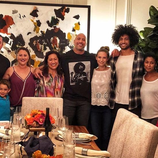 Dwayne Johnson's Thanksgiving Photo 2017