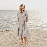 Mien Studios Kindred Wrap Dress in Stone Grey