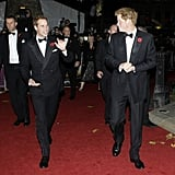 William and Harry waved to fans as they arrived for the premiere of Quantum of Solace in London in 2008.