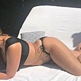 Ashley Graham Black Bikini on Labor Day 2017
