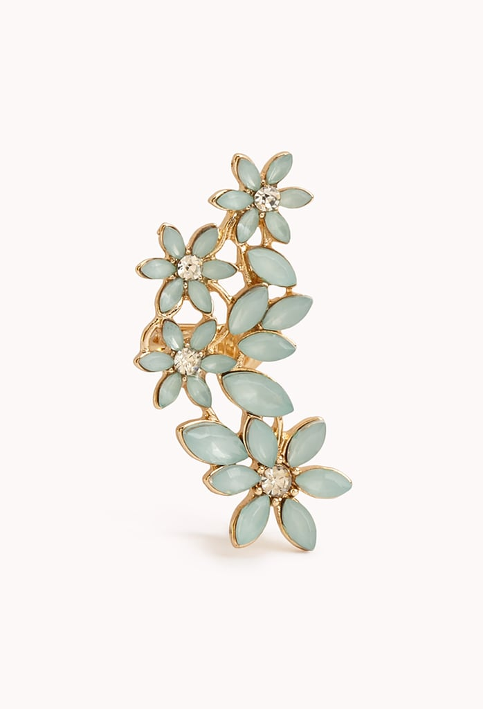 Forever 21 Floral Faux Gemstone Earcuff ($5)