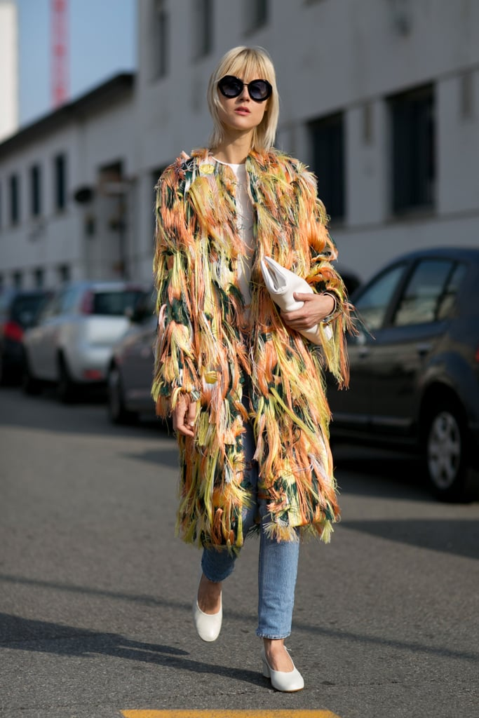 A Colorful Furry Coat Makes All the Difference