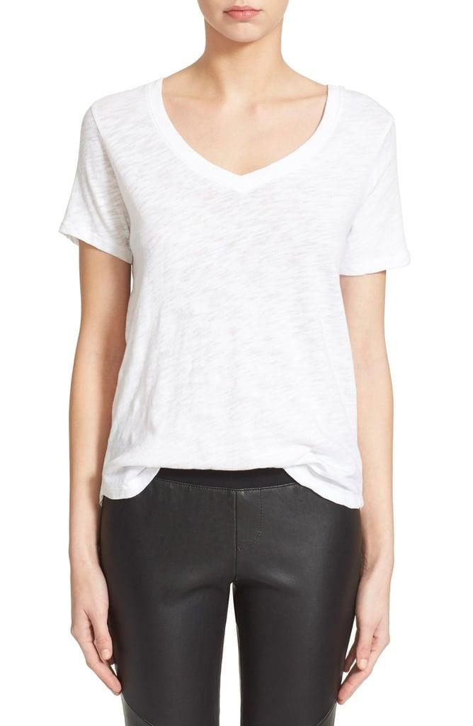 Best white t shirts popsugar fashion for White t shirt v neck