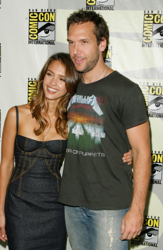 Jessica Alba and Dane Cook stayed close on the red carpet while promoting Good Luck Chuck in 2007.