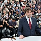 Director Nanni Moretti, the president of the jury, posed at the jury photocall at the Cannes Film Festival.