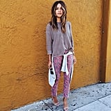 Bold Pants With a Simple Sweater